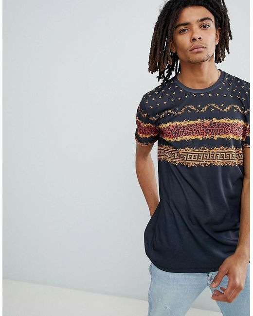 Criminal Damage - T-shirt In Black With Chest Print for Men - Lyst