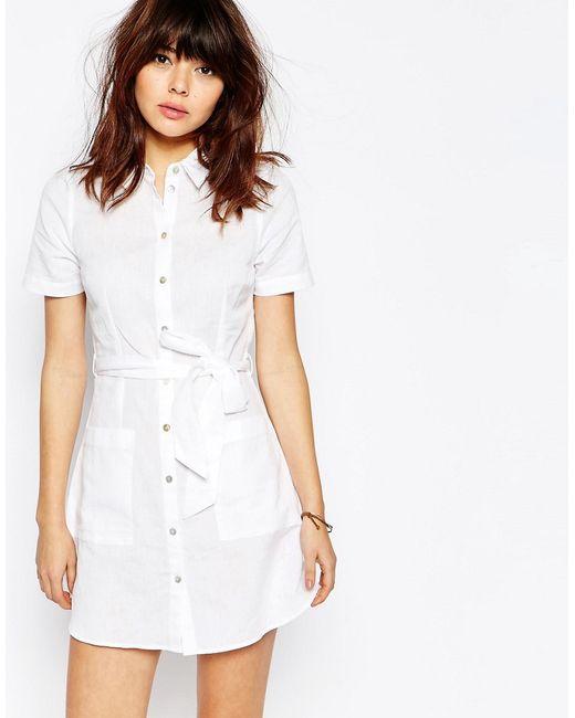 Eileen Fisher Organic Linen Mini Stripe T-Shirt Dress Details Eileen Fisher jersey mini stripe T-shirt dress. Bateau neckline Three-quarter sleeves. Sheath silhouette.