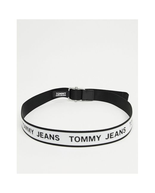 Черный Плетеный Ремень Со Сплошным Логотипом -белый Tommy Hilfiger для него, цвет: White