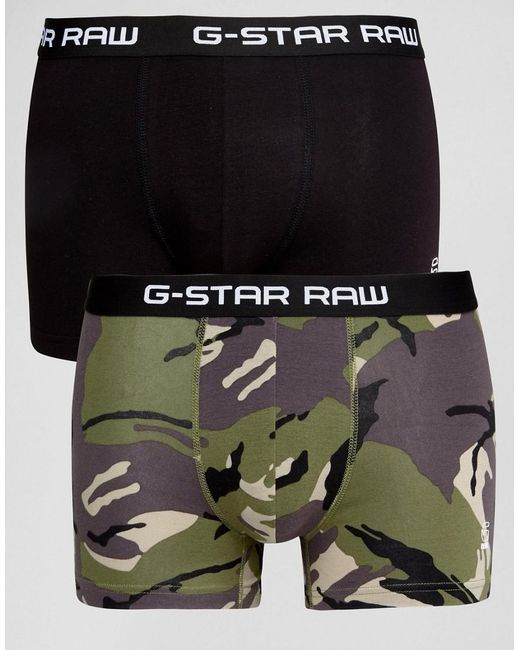 G-Star RAW | Multicolor Raw Trunks In 2 Pack Camo for Men | Lyst