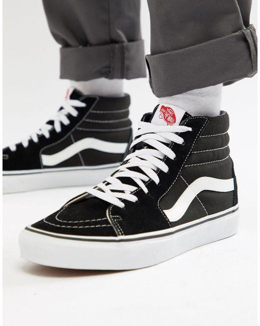 Vans Zapatillas negras Sk8-Hi de hombre de color negro