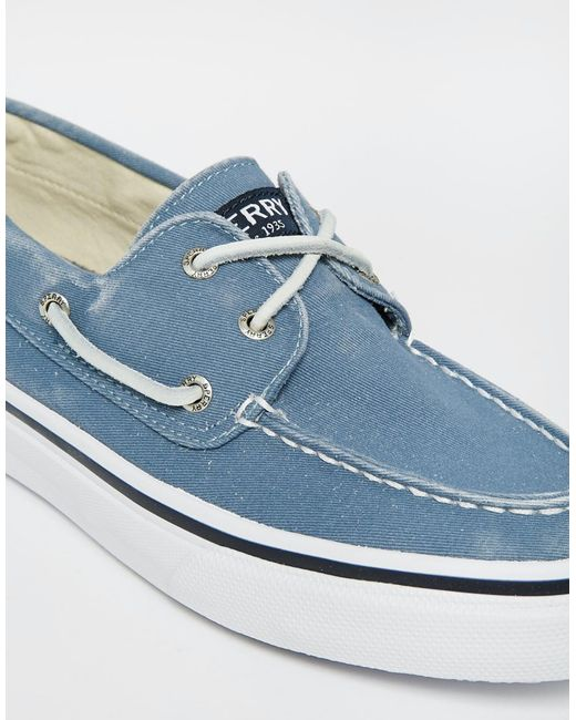 Sperry Top Sider Topsider Bahama Boat Shoes In Blue For