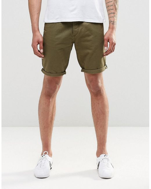 jack jones chino shorts in natural for men khaki lyst. Black Bedroom Furniture Sets. Home Design Ideas