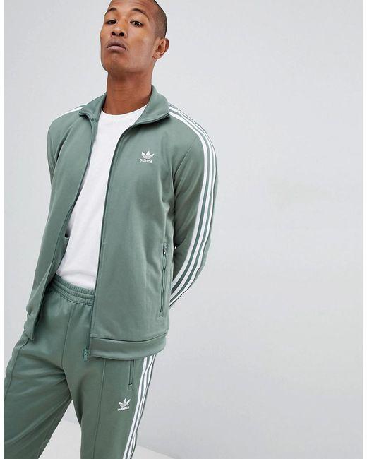Lyst adidas originals beckenbauer chaqueta en verde dh5820 en