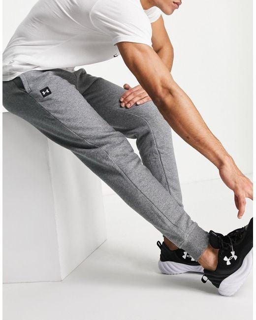 Under Armour Gray Training Rival Fleece joggers for men