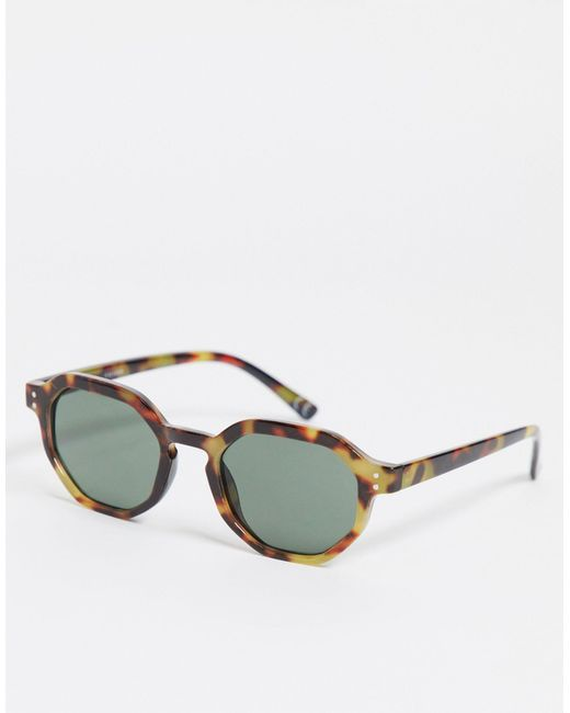 ASOS Brown Round Sunglasses for men