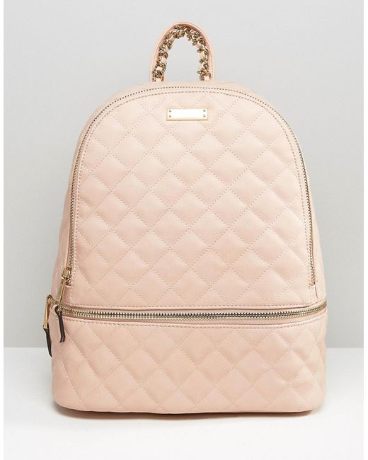 Aldo Ldo Quilted Backpack In Blush In Natural Blush Lyst