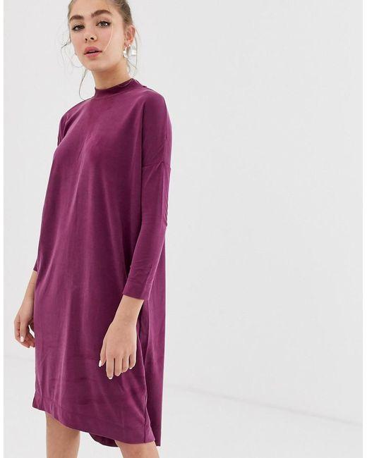 Robe droite Monki en coloris Pink