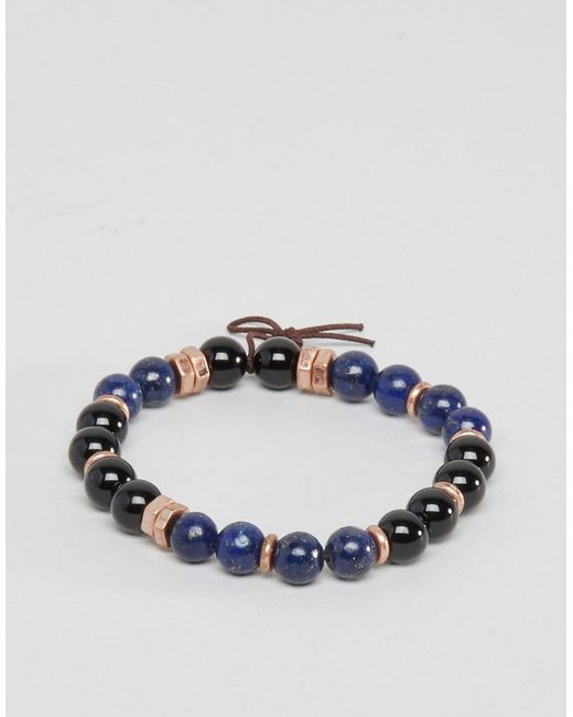 Icon Brand | Multicolor Beaded Bracelet In Blue Exclusive To Asos for Men | Lyst