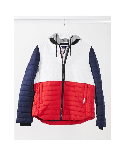 Спортивная Куртка В Стиле Колор Блок -многоцветный Superdry, цвет: Multicolor