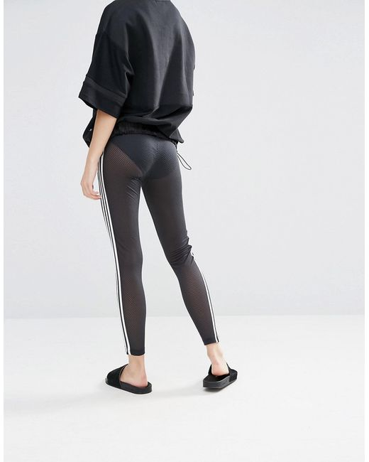 Adidas Originals Originals Mesh Three Stripe Leggings In