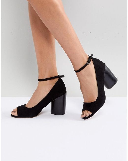 ASOS - Black Ornament Heeled Shoes - Lyst