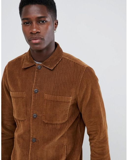Only & Sons Brown Cord Jacket for men