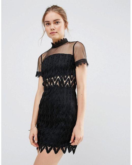 Endless Rose | Fringe Mini Dress - Black | Lyst