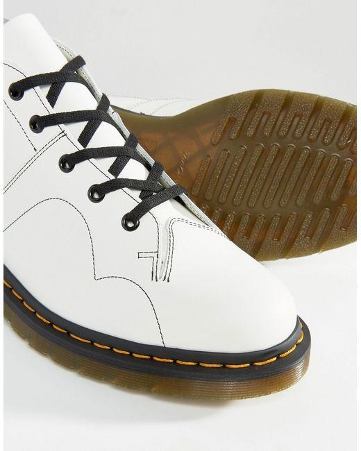 Dr Martens Church Monkey Boots White In White For Men