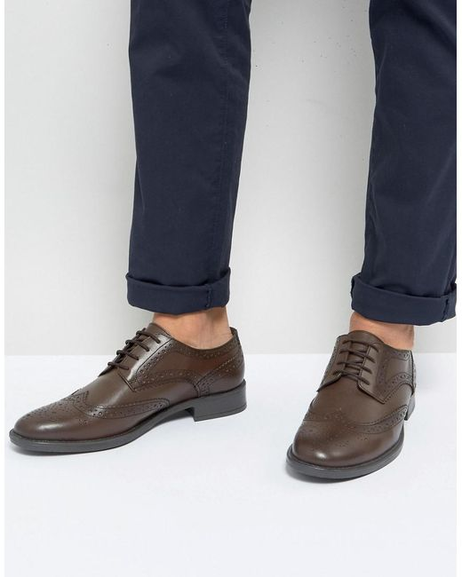 Frank Wright - Brogues In Brown Leather for Men - Lyst