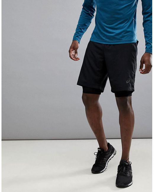 Asics - Running 9 Inch 2-in-1 Shorts In Black 134094-0904 for Men - Lyst