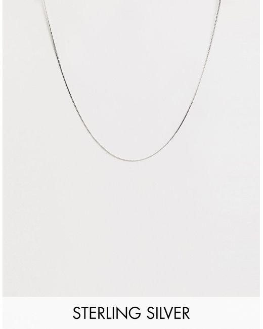 Серебряное Ожерелье-цепочка ASOS для него, цвет: Metallic