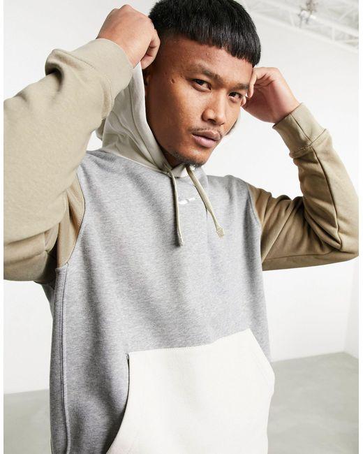 Hoodie à motif color block - foncé/multicolore Nike pour homme en coloris Gray