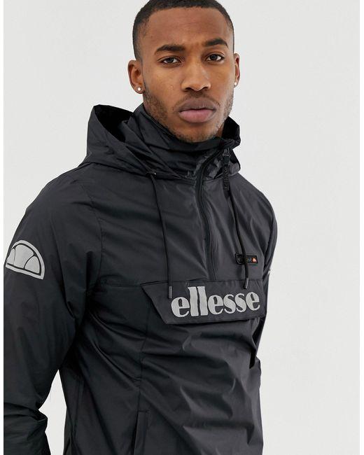 Черная Куртка Без Застежки Со Светоотражающим Логотипом -черный Ellesse для него, цвет: Black