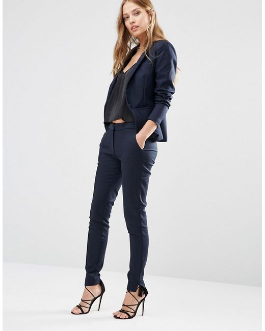 Awesome Tahari ASL Women39s Navy 1button Pant Suit  12337071  Overstockcom
