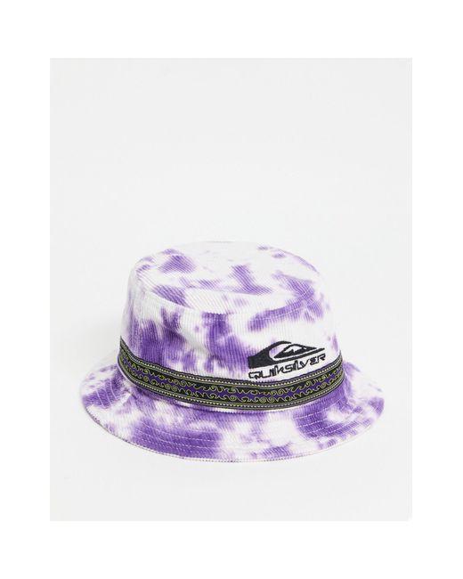 Фиолетовая Панама Из Вельвета С Принтом Тай-дай Og-фиолетовый Цвет Quiksilver, цвет: Purple