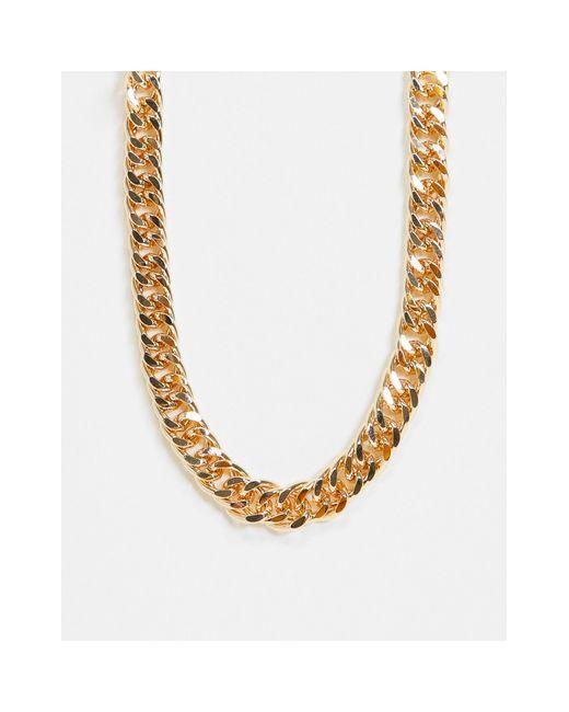 Золотистое Ожерелье-цепочка С Крупными Звеньями ASOS, цвет: Metallic