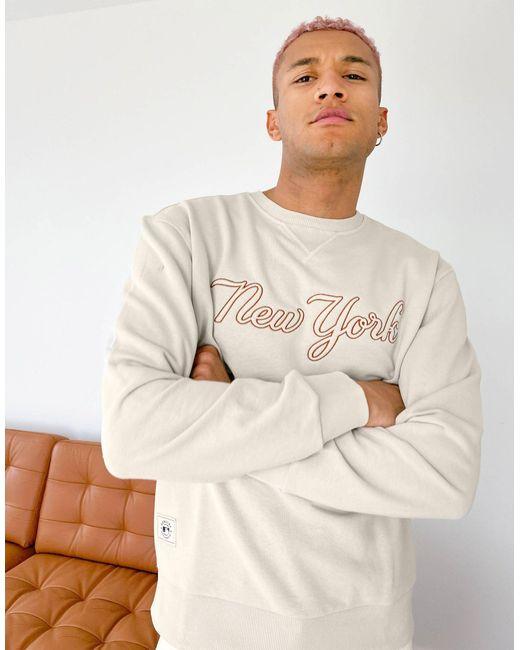 Бежевый Свитшот С Надписью Mlb New York Yankees-белый KTZ для него, цвет: White