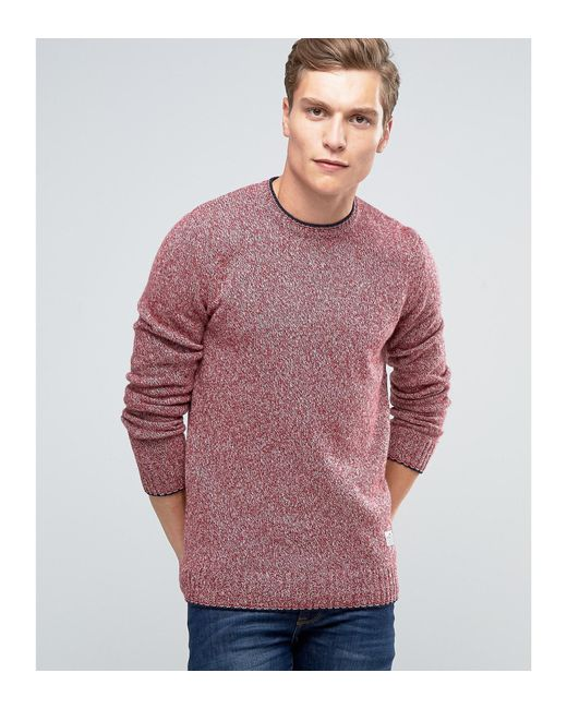 Penfield | Red Gering Melange Crew Neck Sweater for Men | Lyst