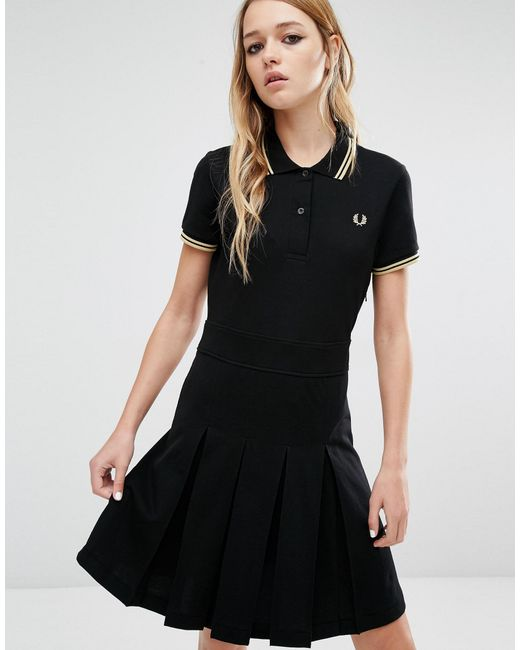 Fred perry Reissue Dress in Black | Lyst