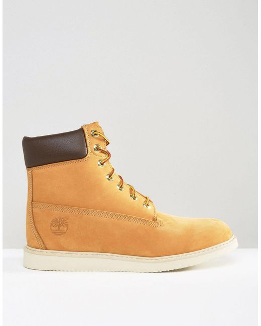 timberland newmarket wedge boots in brown for lyst
