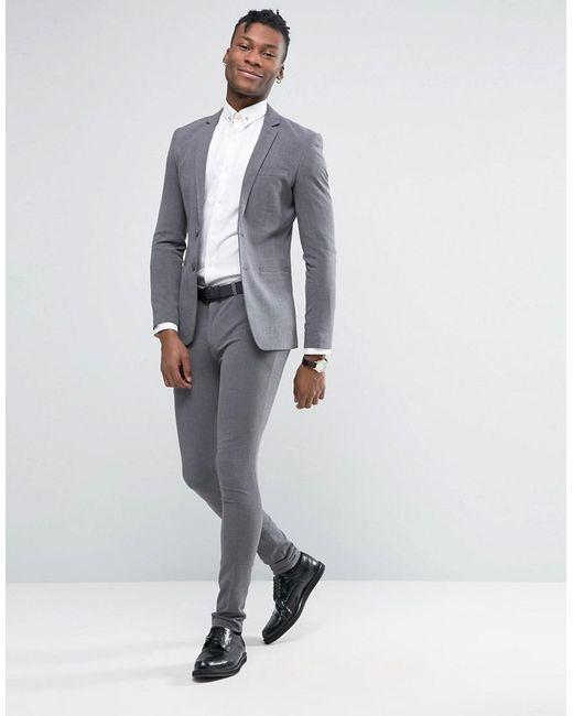 Grey Skinny Suit - Hardon Clothes
