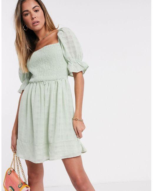 Фактурное Приталенное Платье Мятного Цвета С Присборенной Отделкой -зеленый Цвет Missguided, цвет: Green