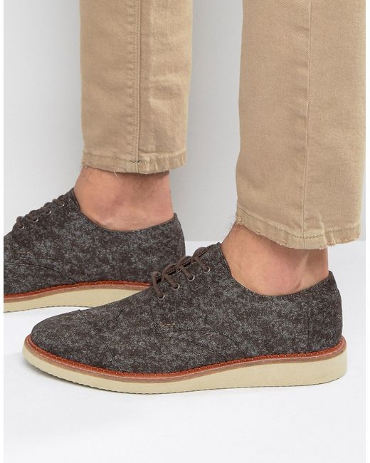 TOMS | Brown Brogue Shoes for Men | Lyst