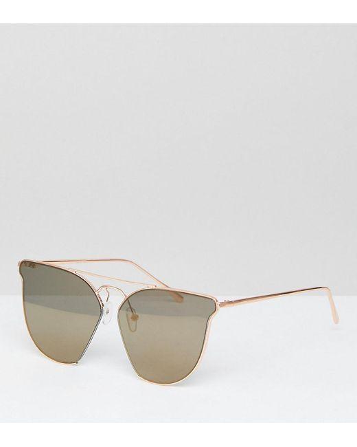 ASOS - Metallic Asos Cut Away Retro Sunglasses With Double High Bar - Lyst