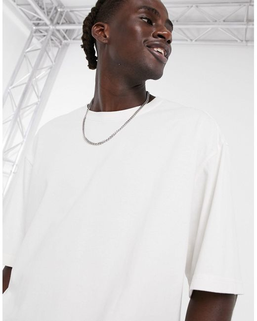 Weekday White Bill Oversized T-shirt for men