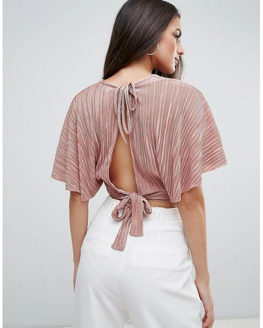 Love | Pink Pleated Kimono Top | Lyst