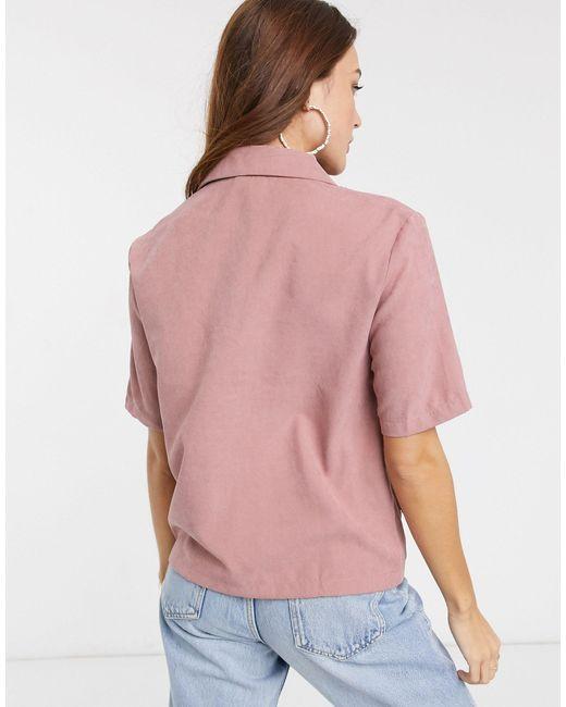 Top utilitario con bolsillos en rosa Vila de color Pink