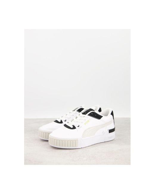 Бело-черные Кроссовки На Массивной Подошве Cali-белый PUMA, цвет: White