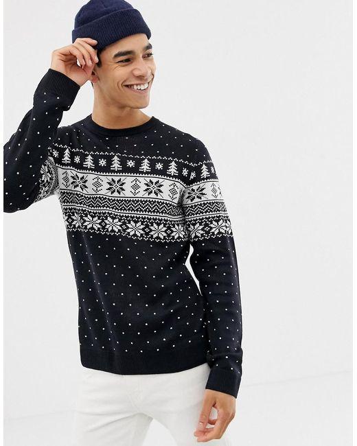 Kaufen ganz nett diversifiziert in der Verpackung Men's Blue Originals Knitted Christmas Sweater