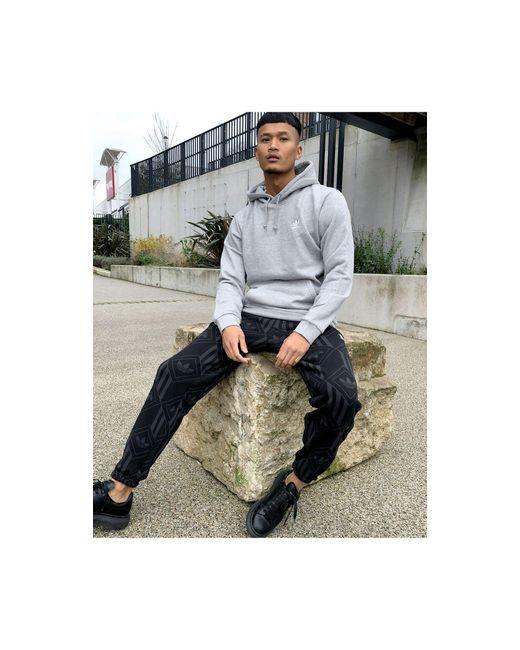 Серый Меланжевый Базовый Худи Essentials Adidas Originals для него, цвет: Gray
