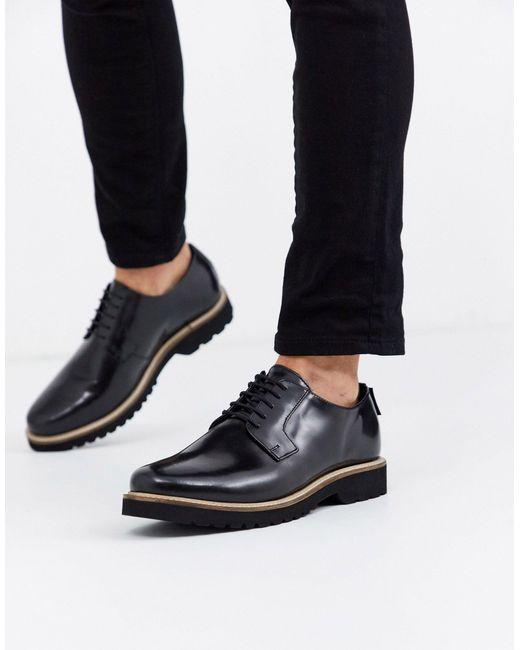 Черные Ботинки Для Широкой Стопы На Шнуровке И Массивной Подошве -черный Ben Sherman для него, цвет: Black
