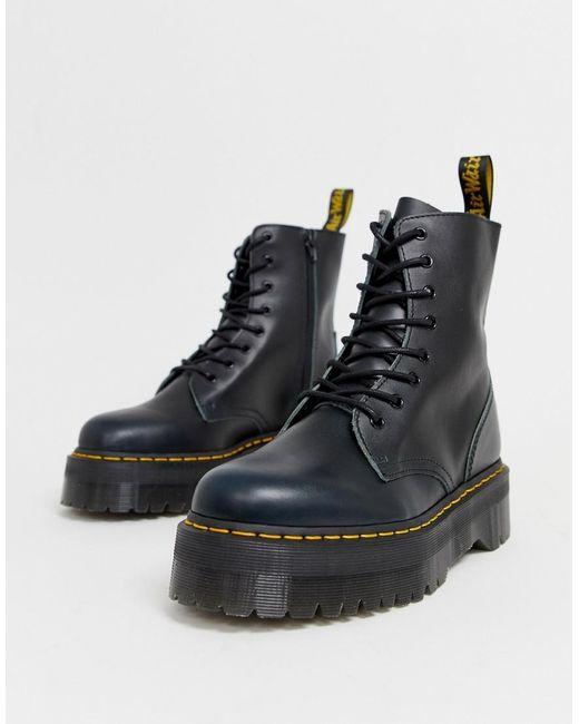 Dr. Martens Jadon 8-eye Platform Boots In Blue Vintage for men