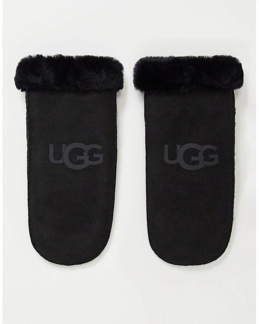 Черные Варежки Из Овчины -черный Цвет Ugg, цвет: Black