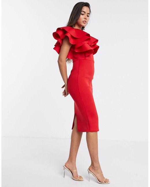Эксклюзивное Красное Платье Мидакси -красный True Violet, цвет: Red