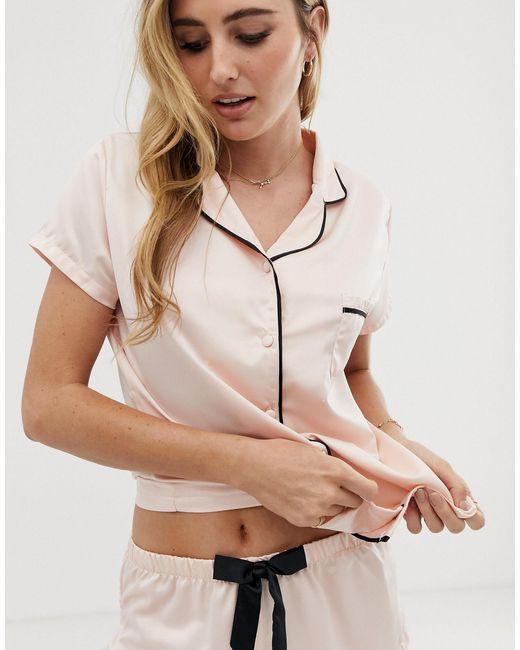 Bluebella Synthetic Abigail Satin Short Pyjama Set in ...