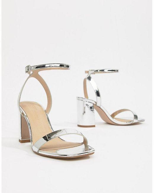 d5c438baf6d Women's Metallic Hong Kong Barely There Block Heeled Sandals In Rose Gold
