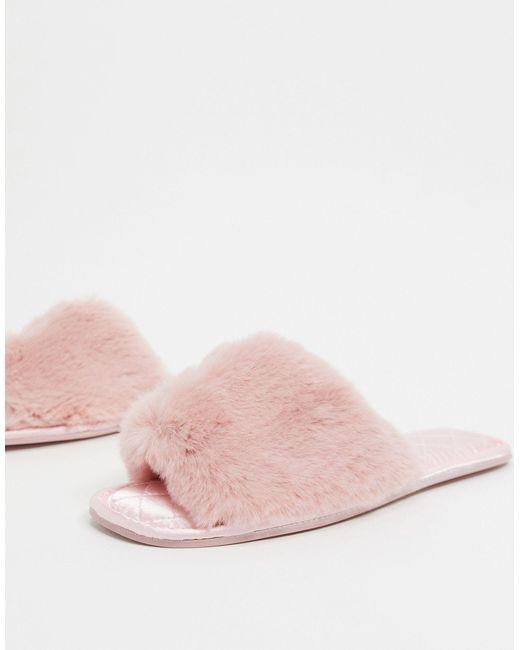 Розовые Шлепанцы Со Стеганой Отделкой ASOS, цвет: Pink