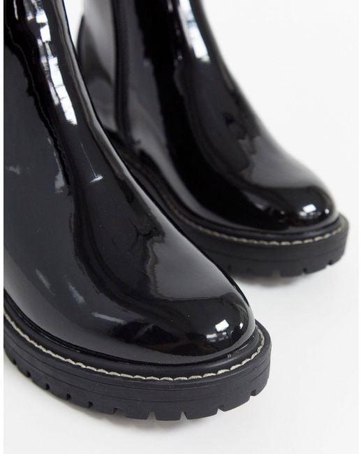 Черные Лакированные Ботильоны Для Широкой Стопы -черный River Island, цвет: Black