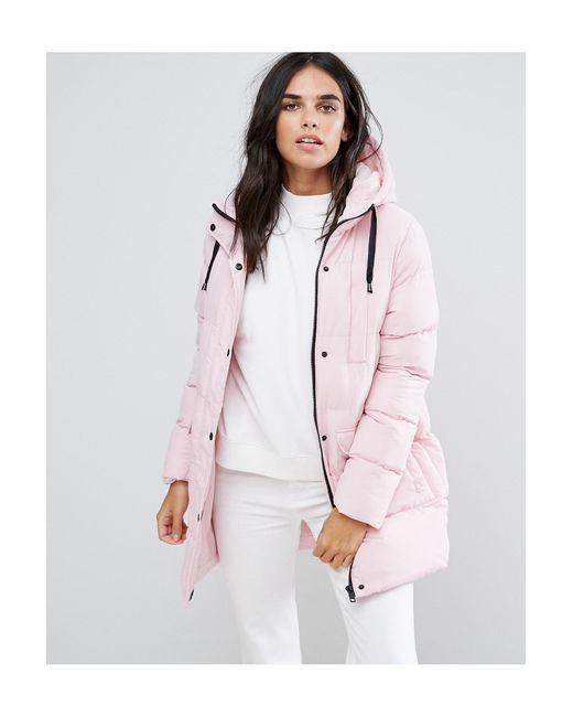 Дутое Пальто Средней Длины -розовый Brave Soul, цвет: Pink